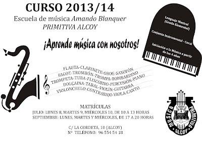 Curso 2013/14 Escuela de Música Amando Blanquer